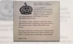 Halloween Obese Letter: Woman Criticized For Plan To Shame Fat Trick-Or-Treaters