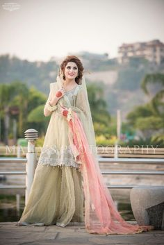 Beutifull wedding party dress In light pistachio green and baby pink color Model# P 1197 Nikkah Dress, Pakistani Dress Design, Pakistani Wedding Dresses, Mehndi Dress, Desi Wedding, Wedding Wear, Wedding Party Dresses, Wedding Stuff, Party Dresses Online