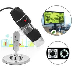 1000X 8 LED USB2.0 Digital Microscope Endoscope Biological Zoom Camera with Bracket