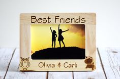 Best Friends Frame Personalized Photo by CustomWoodWonders on Etsy