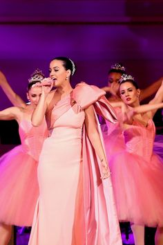 KATY PERRY  was pretty in pink when she performed during Change Begins Within: A David Lynch Foundation Benefit Concert at Carnegie Hall on November 4 in New York City