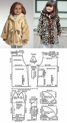 New Ideas Sewing Baby Patterns Fit Baby Girl Dress Patterns, Baby Clothes Patterns, Coat Patterns, Baby Patterns, Clothing Patterns, Fashion Sewing, Kids Fashion, Baby Clothes Sizes, Techniques Couture