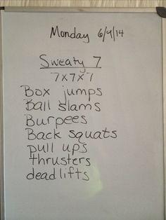 Sweaty 7.....sub something else for ball slams