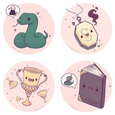 Alll the horcruxes I'm trying to think of other mildly inanimate objects from HP, maybe I'll do a kawaii book or potion series Though I'm definitely doing a hogwarts ghost series before Halloween Also this weeks giveaway is now closed and the winner has Fanart Harry Potter, Harry Potter Animé, Fans D'harry Potter, Harry Potter Drawings, Harry Potter Pictures, Harry Potter Wallpaper, Harry Potter Universal, Harry Potter Characters, Hufflepuff Cup
