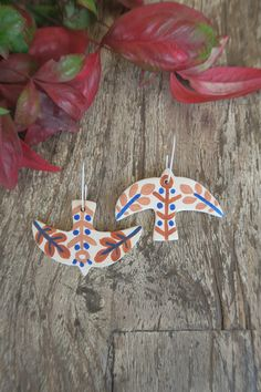 made in South Africa Bird Earrings, South Africa, Original Art, Christmas Ornaments, Holiday Decor, Handmade, Beautiful, Jewelry, Hand Made