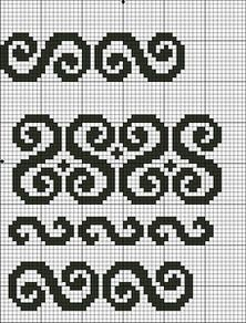 View album on Yandex. Easy Cross Stitch Patterns, Peyote Stitch Patterns, Cross Stitch Borders, Crochet Borders, Crochet Diagram, Weaving Patterns, Crochet Chart, Cross Stitch Designs, Celtic Cross Stitch