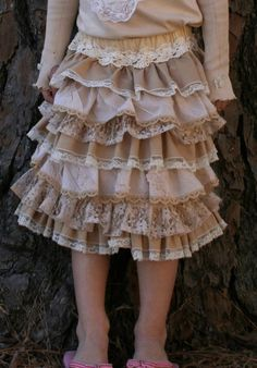 †  Nancy's Couture: How To Tea Dye  (~TA Love the way this skirt looks! I'm tempted to make one with fabrics like this just to try to get this result!