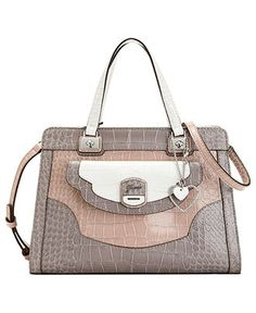 GUESS Handbag, Azadeh Small Box Satchel - Handbags & Accessories ...