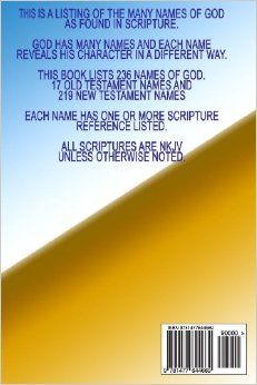 Names of God: As found in Scripture: SGLY Ministry: 9781477644669: Amazon.com: Books--Paperback