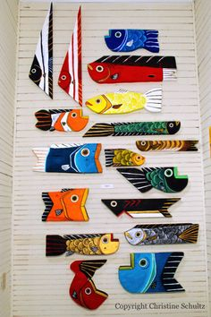 Red Wood Fish Decor Handmade One of A Kind in by TaylorArts