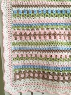 Crochet Baby Blanket Pattern - pinned by pin4etsy.com