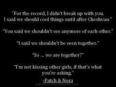 Patch and Nora. Hush Hush. Becca Fitzpatrick