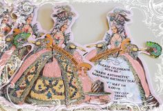 First designed by request from one of our wonderful customers, these meticulously hand die cut vintage style Marie Antoinette invitations are just