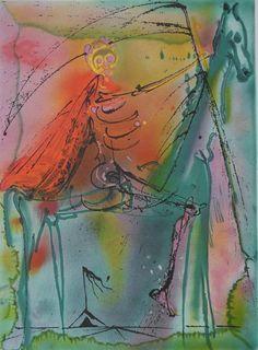 Salvador DALI                   LeCheval de la Mort                   Lithographie originale Sur Vélin Arches                   Signée dans la planche                   Édition Armand Israel, 1983                   Dimensions 56 x 36 cm                                      Information: Cette oeuvre est authentifiée par le cachet sec de l'éditeur                                      Excellent état