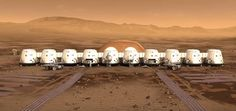 An animation of the Mars One Mars settlement.