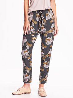 Women's High-Rise Floral Soft Pants Product Image