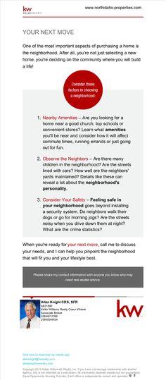 Neighborhood Considerations