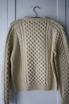 vintage wool fishermans sweater by littlebyrdvintage on Etsy