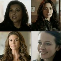 "The Ladies of ""Person Of Interest:"" Carter, Shaw, Zoe, Root."