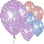 Balloons: Latex Multi Coloured Balloons 11'' Engagement (6pk)