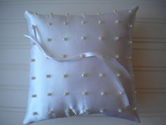 Perfect Pearls Ring Bearer Pillow by DaniCalve on Etsy, $22.00