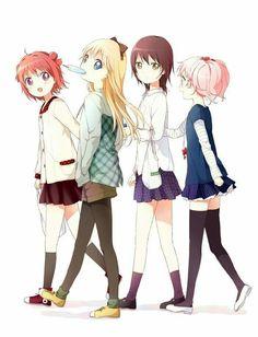 Akari, kyoko, yui y chinatsu   Yuru yuri.