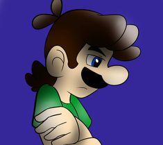 not happy. by on DeviantArt Mario Bros., Mario And Luigi, Super Mario Brothers, Super Mario Bros, Play My Game, Super Mario Games, Standing In The Rain, Nintendo, Art Story