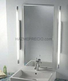Reforma ba o estilo cl sico lavabos con pedestal espejo - Iluminacion para banos modernos ...
