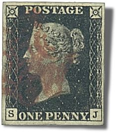 The world's first postage stamp, the Penny Black, was issued on May 1, 1840.
