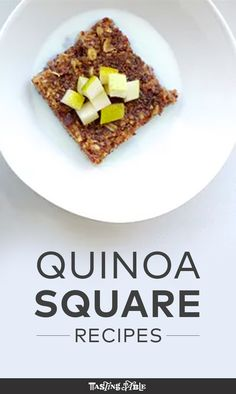Warm Quinoa-Oat Squares with Date Sugar