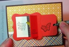 Julie's Stamping Spot -- Stampin' Up! Project Ideas Posted Daily: VIDEO: Peek-a-Boo Message Card Tutorial