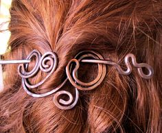 Antiqued Copper Hair Clip -shawl pin