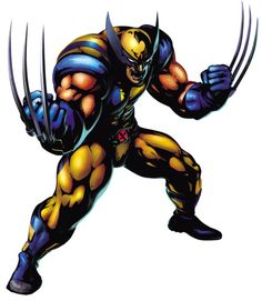 View an image titled 'Wolverine Art' in our Marvel vs. Capcom 3 art gallery featuring official character designs, concept art, and promo pictures. Marvel Wolverine, Wolverine Character, Marvel Dc Comics, Marvel Heroes, Marvel Games, Logan Wolverine, Comic Book Characters, Marvel Characters, Comic Character