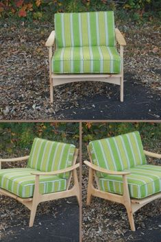 This green chair was inspired by a vintage 50's mid century modern lounge chair. The arms have a nice graceful curve that I think really makes this chair stand out from all the others. There are a choice of fabrics available if green isn't for you. #LoungeChair #MidCentury #MidCenturyFurniture #Chair #HandmadeFurniture