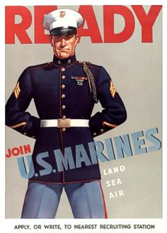 READY - Join U.S. Marines ~ WWII Posters