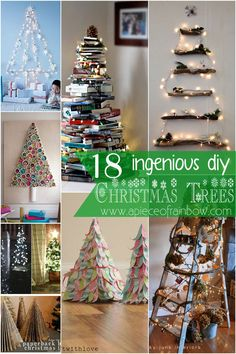 Amazing ideas of DIY Christmas trees that are great for many spaces and styles! Hmm, they are not trees!