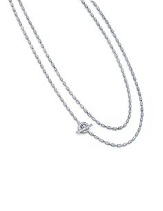 Diamond Box Chain Necklace // as seen on Emma Roberts Attending the 2017 Vanity Fair Oscar Party - February 26, 2017