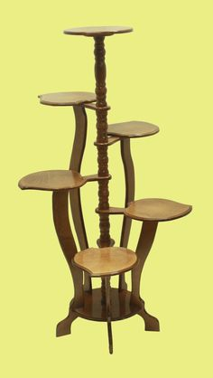 Tall Plant Stand Indoor, Tall Plant Stands, Wooden Plant Stands, Diy Plant Stand, Bamboo Planter, Vertical Planter, House Plants Decor, Plant Decor, Plant Table