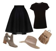 """Untitled #35"" by nermina85-1 ❤ liked on Polyvore featuring Sole Society, Vince and Topshop"