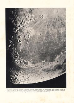 Moon Mountains Telescope Photo Print 1940s