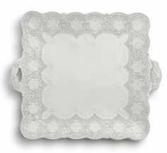 Merletto Antique Square Platter with Handles from Arte Italica in Jackson, WY from Belle Cose...Beautiful!