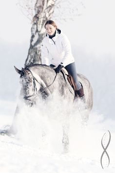 Riding in the snow #gaastra