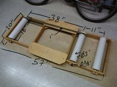 DIY Bike Rollers : 8 Steps (with Pictures) - Instructables Bicycle Rollers, Diy Bike, Pimp Your Bike, Road Bike Accessories, Diy Gym Equipment, Cycling Equipment, Bike Repair Stand, Wood Bike, Bike Trainer