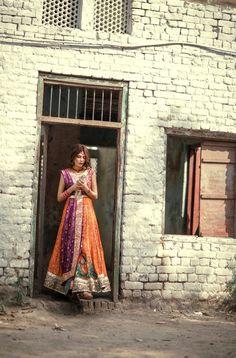 "Amnah Maqsood's ""Aura"" Collection, S/S 2015 Pakistani Couture, Pakistani Outfits, Bridal Mehndi Dresses, Mehndi Outfit, Desi Clothes, High Fashion, Indian, Wedding, Affair"