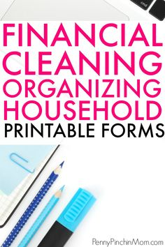 House and get organized. Household Organization, Finance Organization, Book Organization, Organizing Paperwork, Organizing Tips, Ways To Save Money, Money Saving Tips, Money Tips, Budget Forms