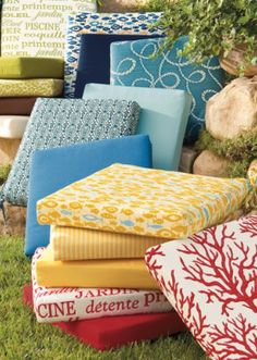 Outdoor furniture cushions in all prints!