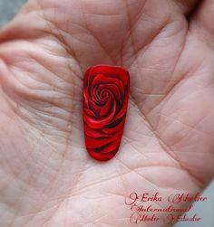 Realistic Rose Realistic Rose, Nail Art, Nails, Painting, Finger Nails, Ongles, Painting Art, Nail Arts, Nail