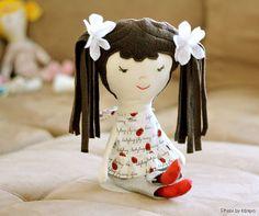 Handmade Rag Doll Soft Cuddly Cute