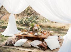 graceful desert wedding at Enchanted Rock - photo by Bella Reese Photography http://ruffledblog.com/graceful-desert-wedding-at-enchanted-rock #weddingreception #weddingideas #bohemian