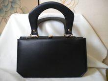 1950's Black Vinyl Verdi Purse/Handbag